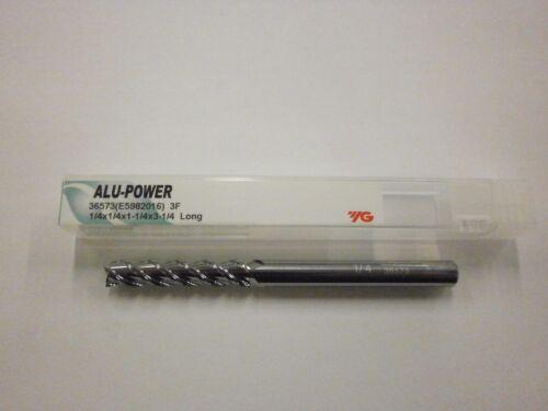 "YG1 1//4/"" Long ALU-POWER Carbide End Mills for Aluminum YG-1 .250 3FL 36573 5pc"