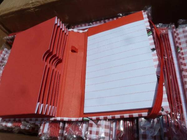 """(1) Recipe Or Coupon Organizer 6 Pocket W/notepad Perfect Small Size 6"""" X 4.5"""" Verfrissing"""