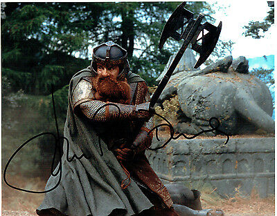 John RHYS DAVIS SIGNED Autograph 10x8 Photo AFTAL COA Lord of the Rings GIMLI