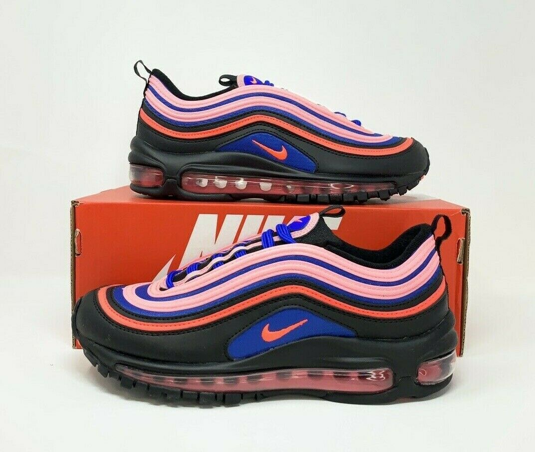 Nike Air Max 97 GS Black Pink Blue Ct1578 001 Size 5y for sale ...