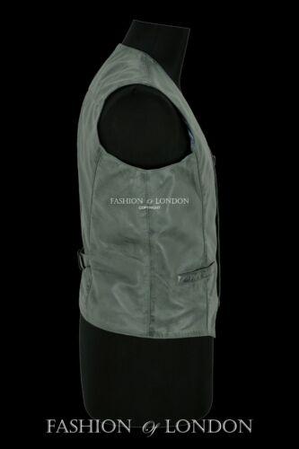 Men/'s Leather Waistcoat Vest Party Fashion Grey Napa Stylish 100/% Leather 5226