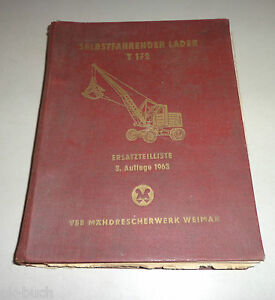 Parts Catalog T 172 Excavator Self-Propelled Loader Factory Weimar Stand 1963 3.