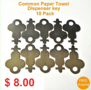 Skeleton Paper Towels Tissue Dispenser Key 10 Pack New