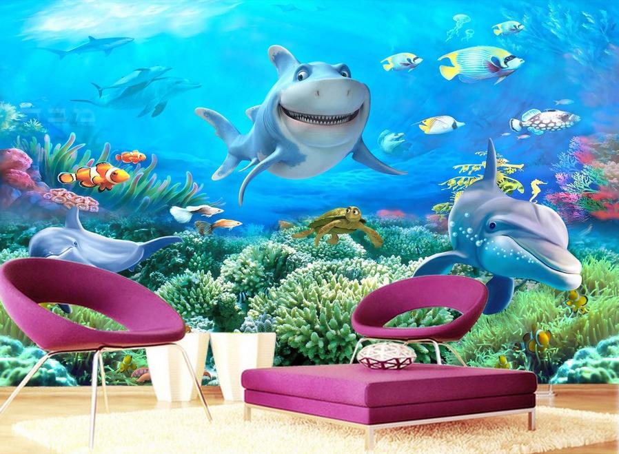 3D Interessante Delfine Delfine Delfine 754 Tapete Wandgemälde Tapete Tapeten Bild Familie DE    Üppiges Design    Schön und charmant    Langfristiger Ruf  6ab259