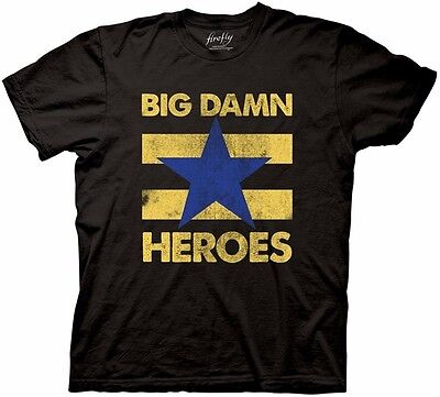 Firefly TV Series BIG DAMN HEROES Vintage Style Adult T-Shirt All Sizes