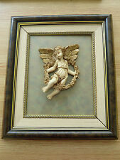 BILD, 3D, ENGEL, PUTTE, HOLZRAHMEN, 32 x 37 cm (Paar möglich)