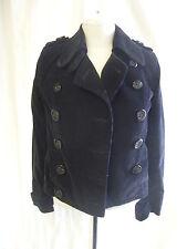 Ladies/girls coat - Miss Selfridge, size 4, black pincord, pea coat?, cute 1417