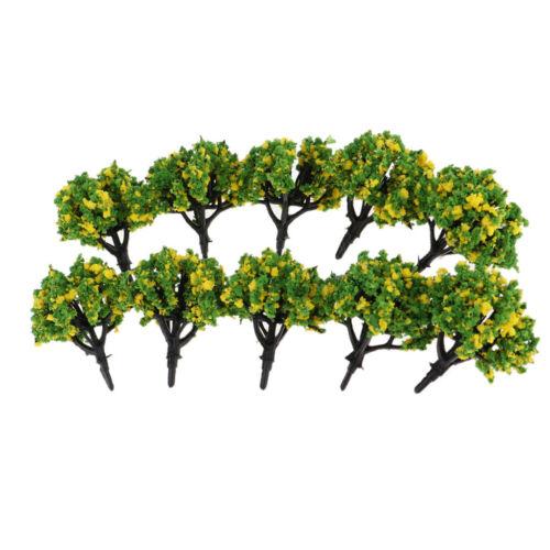 10pcs 1:200 Train Railroad Scenery Landscape Model Trees Scale Model Kits #2