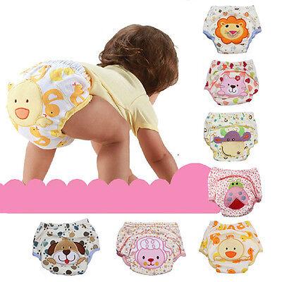 Baby Boy Girl Kids Toilet Pee Potty Training Pants Cloth Diaper Nappy Underwear