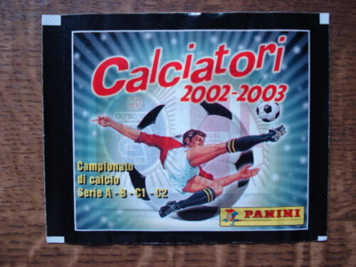 PANINI  UNOPEND//CLOSED//GESLOTEN PACKET//BUSTINE//ZAKJE CALCIATORI 2002-2003