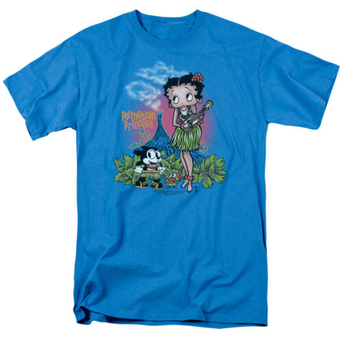 Betty Boop POLYNESIAN LUAU PRINCESS Felix the Cat Licensed T-Shirt All Sizes
