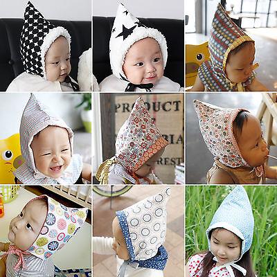 Cute Newborn Baby Cap Fairy Hat Both-Sided Bonnet Infant Toddler Handmade Ebs1