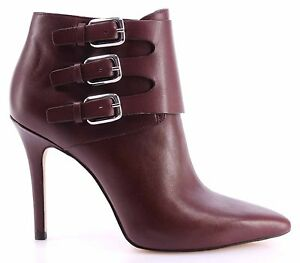 Zapatos-Tacon-Mujeres-Botin-MICHAEL-KORS-Prudence-Bootie-Merlot-Leather-Nuevo