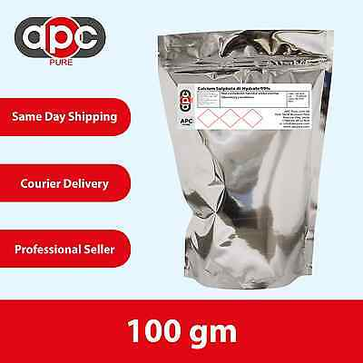 Calcium Sulphate di-Hydrate 99% - 100g *Packed in Foil Pouch*