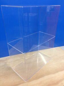 Acrylic-Lucite-Countertop-Display-ShowCase-Cabinet-12-034-x-8-034-x-16-034-h-1-shelve
