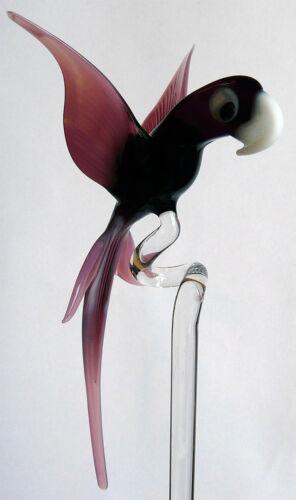 Orchideenstab Orchideenstäbe Orchideenhalter aus Glas mit Papagei