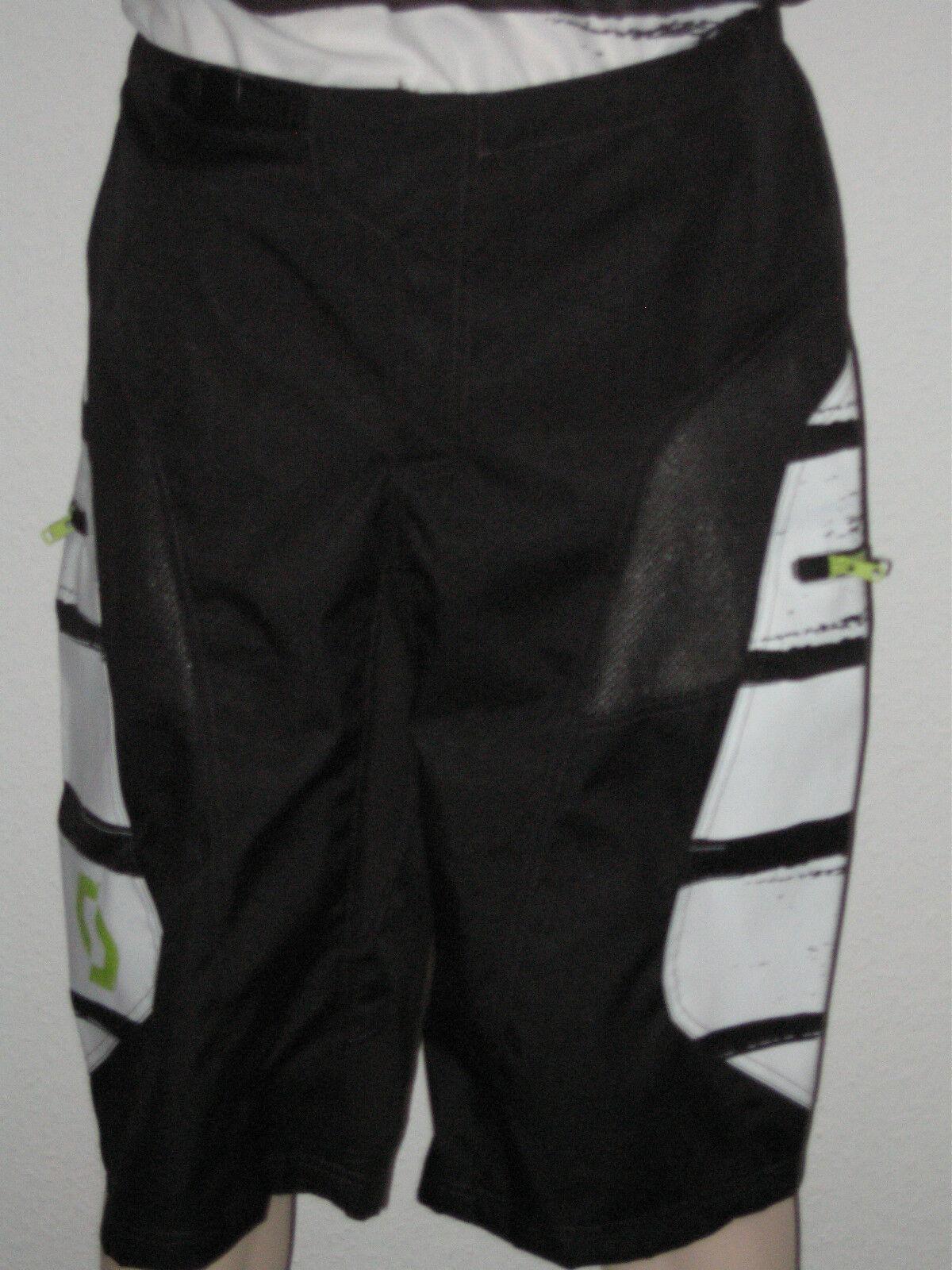 SCOTT Freeride-Shorts Freeride-Shorts Freeride-Shorts ohne Polster  in schwarz weiß  (M)  NEU 256309