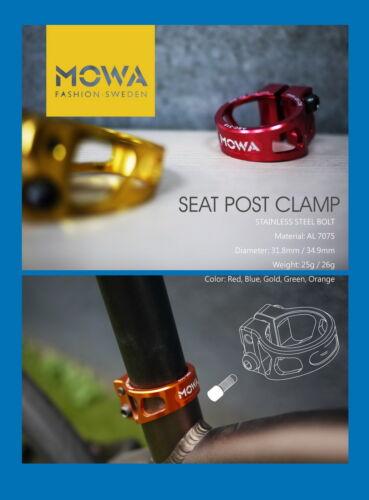 MOWA ASC Road Cyclocross Mountain MTB Cycling Bike Seatpost Clamp 31.8mm Green