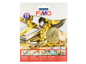 Fimo-14cmx14cm-Gold-Leaf-Cover-Sheets-Pack-of-10