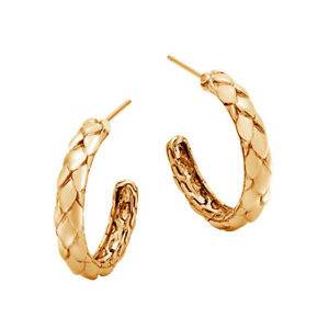Details About Hoop Style Engagement Earring Hallmarked 14k Yellow Gold Wedding
