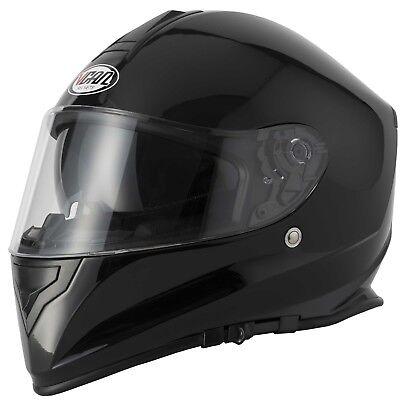 VCAN V127 MATT BLACK  MOTORCYCLE  FULL FACE HELMET WITH DROP DOWN SUN VISOR