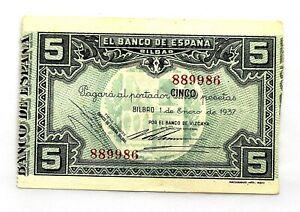 Spain-Guerra-Civil-Billete-5-Pesetas-1937-Bilbao-EBC-XF