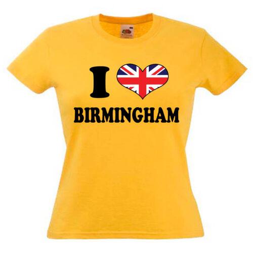 I Love Heart Birmingham Ladies Womens Lady Fit T Shirt