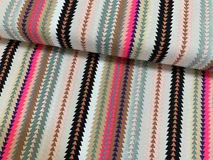 Streifen neongrün-mehrfarbig 140cm Baumwoll-Druck