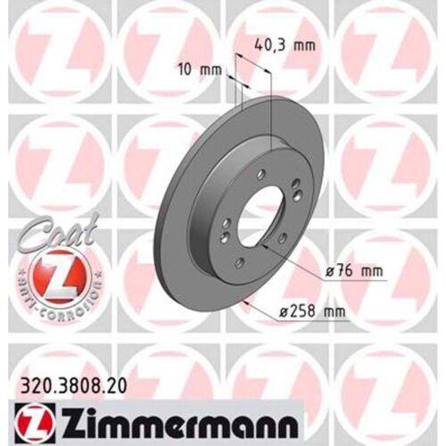 2 Zimmermann Bremsscheiben Hyundai ix20 Kia Venga 1.4-1.6 258mm voll hinten