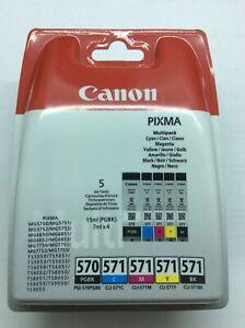 Canon-Pixma-Multipack-de-5-Cartouches-Neuve-PGI-570PGBK-CLI-571-C-M-Y-BK