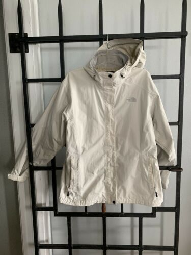 North Face Hyvent Off White Jacket Size XL/TG