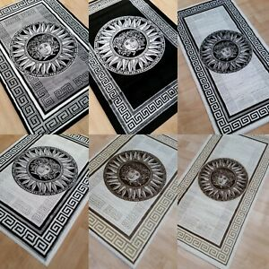 GREEK-BORDER-RUGS-GREY-BLACK-BEIGE-WHITE-WITH-SILVER-AND-GOLD-GLITTER-LARGE-RUGS