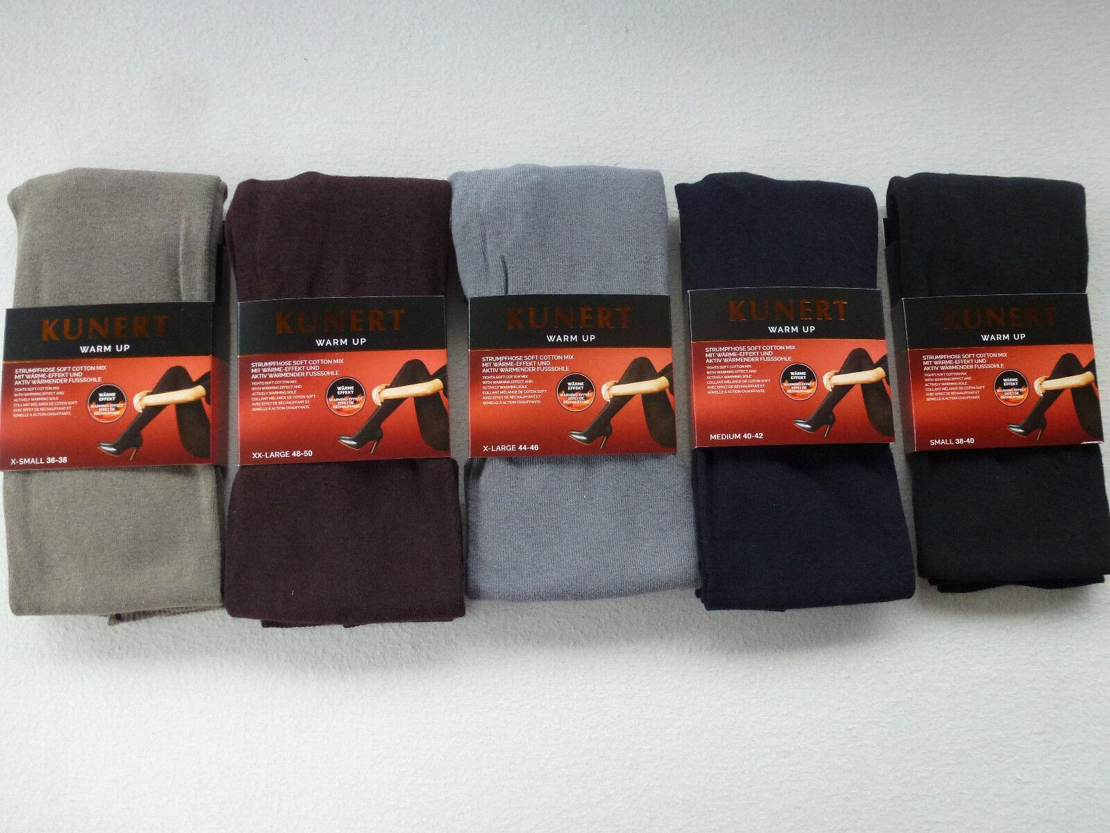 Kunert Ladies Knitted Tights 36-50 XS-XXL Warm Up 72% Cotton