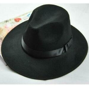 Women-Men-Unisex-Vintage-Blower-Jazz-Dance-Hat-Trilby-Derby-Cap-Fedora-Felt-H