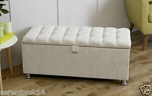 Beau Image Is Loading NEW CHENILLE CHELSEA OTTOMAN BOX BENCH STOOL TOY