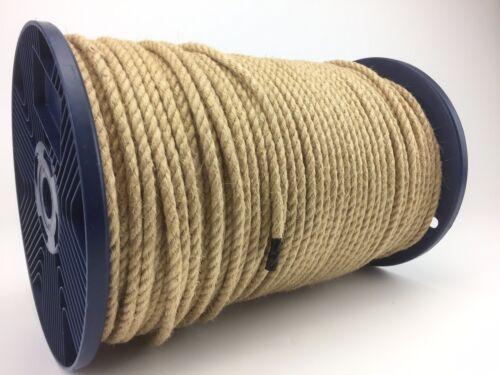 corde torsadée jardin plancher 6mm jute naturel corde x 100m bobine