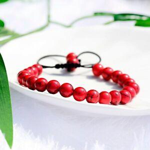 Bien Fashion Rouge Turquoise Yoga Bracelets Mala énergie Réglable Hommes Femmes Bracelets-afficher Le Titre D'origine