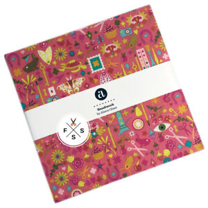 Alison-Glass-Handiwork-10-034-Squares-Fabric-Cotton-Layer-Cake-B10