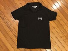 Samuel Adams Brewing Black Polo Style Shirt Top V Neck Women's Size L