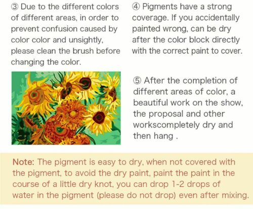 Colorful Paint By Numbers Kits Flowers Bouquet DIY Number Canvas Painting Vase