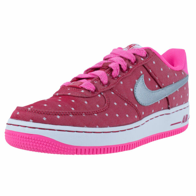NIKE Girls Womens AIR FORCE 1 GS BASKETBALL SHOES Silver Red Pink POW  314219-603 729a0e51f9