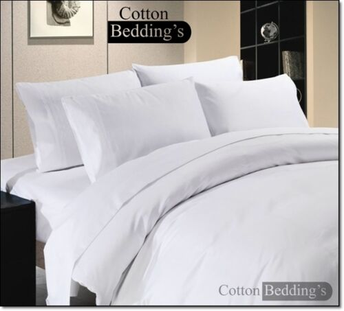800 1000 TC 100/% Egyptian Cotton UK Size Hotel Scala Branded Bed Linen in White