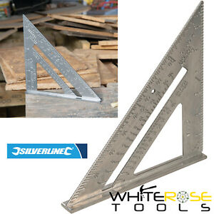 """Silverline Roofing Square Aluminium Alloy Rafter Framing Tri Roof Mitre 7"""""""