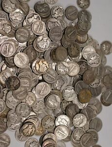 Mercury-Dimes-1916-1945-90-Silver-Coin-Lot-Circulated-Choose-How-Many
