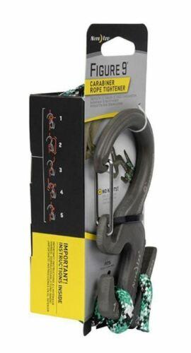 Nite Ize Grande Figure 9 Mousqueton Corde Tendeur avec 10 ft environ 3.05 m de câble C9L-03-01