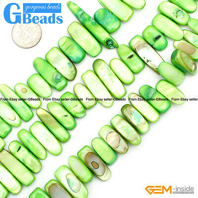 """Freeform Multi-color Shell MOP Gemstone Chips Loose Beads For Jewelry Making 15"""""""
