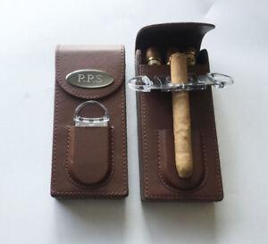 him Retirement Personalized Engraved Custom Leather Wallet Cigar Case Black- Graduation Cigar Tube Cigar Cutter Birthday gift for men