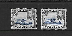 KUT-1938-KGVI-3-P13-x-11-75-both-shades-MM-SG147-amp-147a-Cat-125