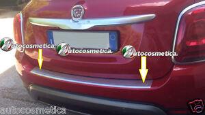 Battivaligia-Protezione-Soglia-Paraurto-Posterior-Acciaio-Satinato-per-FIAT-500X