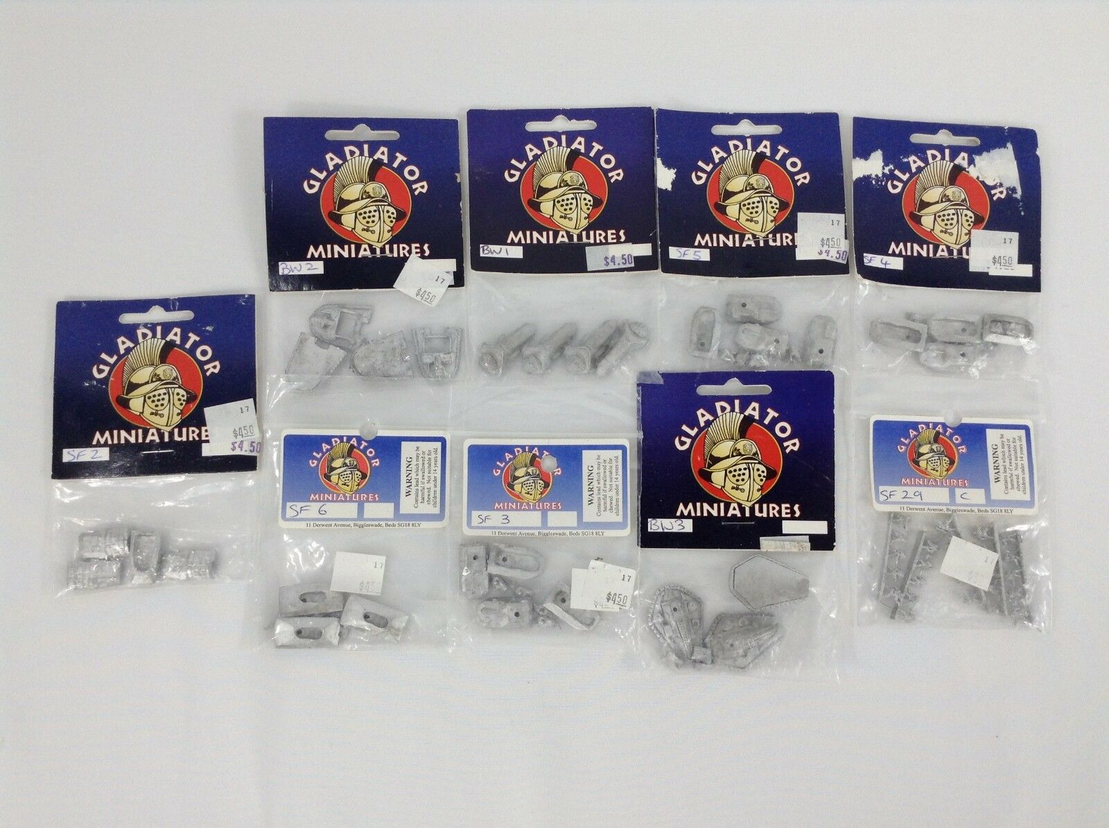 Gladiator Miniatures Lot of 9 Wargaming Minis Tanks Soldiers SF2 SF3 SF4 SF5 +++